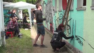 Querdaenker Festival Leisnig 2015 Grafitti