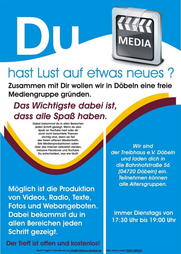 Plakat offener Medientreff Döbeln