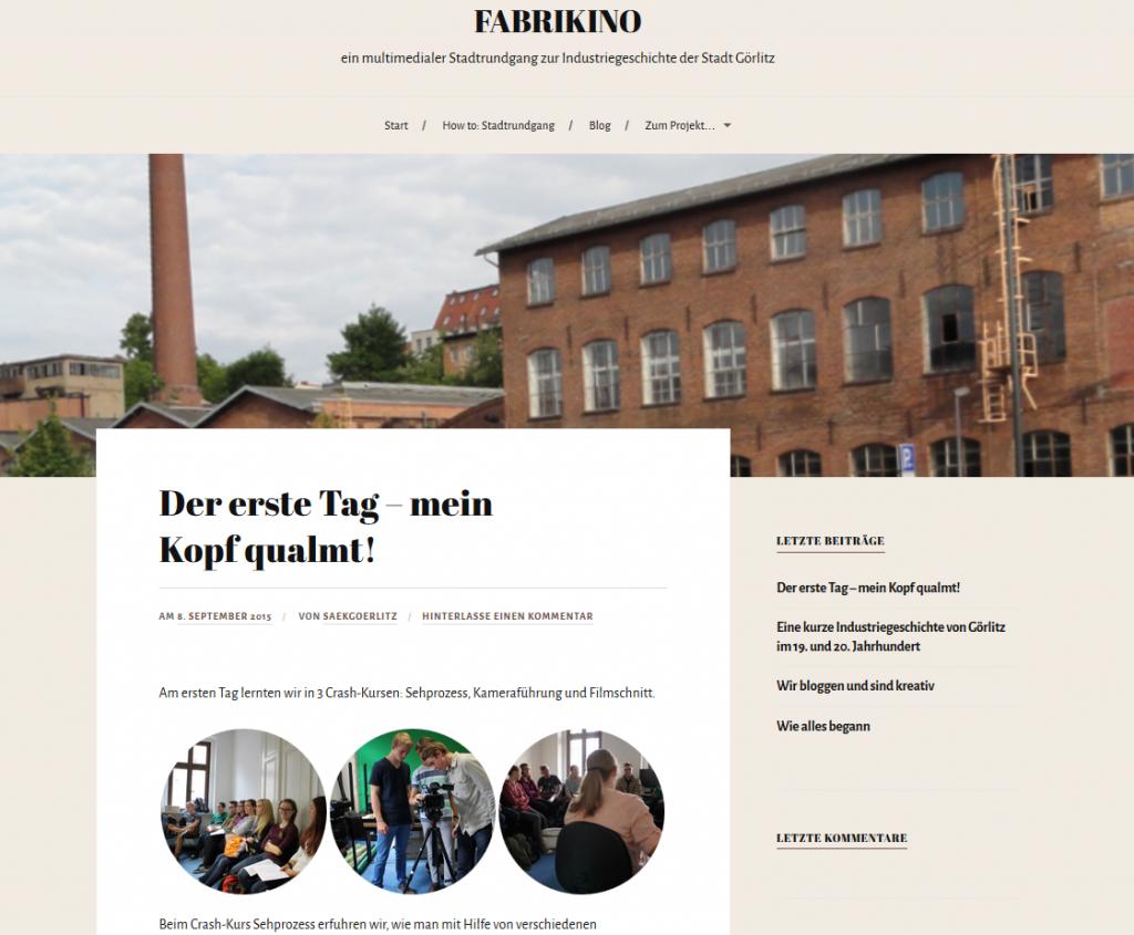 Fabrikino ist ein multimedialer Stadtrundgang